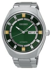 New Seiko SNKN77 Recraft Automatic Green Dial Steel Bracelet Mens Watch