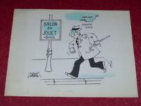 [BD DESSIN HUMOUR PRESSE] J. GIRAUD - DESSIN ORIGINAL SIGNE Salon du Jouet