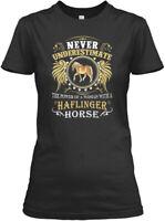 Haflinger Horse S - Never Underestimate The Power Of Gildan Women's Tee T-Shirt