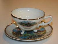 VINTAGE SOUVENIR PLATE & CUP CABLE CAR SAN FRANCISCO EFCCO JAPAN