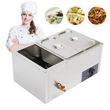 Electric Bain Marie Buffet Steamer 3 Pot Countertop Food Warmer Table With Faucet