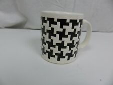 VTG Waechtersbach Coffee Cup Mugs Black White Geometric Pattern West Germany