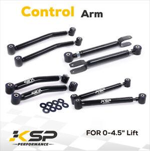 """Adjustable Upper+Lower Control Arms 0-4.5"""" Lift For JK Wrangler 2006-2018"""