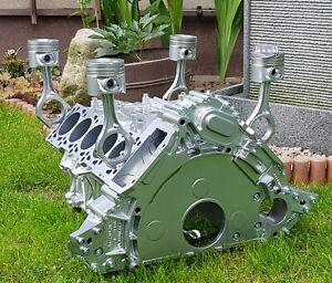 VW Pheaton V10 Motortisch Tisch Motorblock Motor Coffee Table Handmade V8 V12