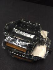 "Nos KHE 1/2"" black BMX Pedals Alloy Platform 1 piece crank fits: Kink Beater Gt"