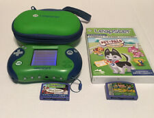 Green LeapFrog Leapster 2 Learning System w/3 games & case Pet Pals, Pixar +++