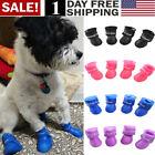 4Pcs/Pet Waterproof Rain Shoes Winter Anti-slip Boots Socks for Small Puppy Dog