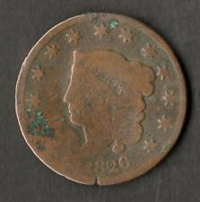 USA Large Size Copper One Cent 1826 VG