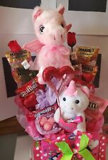 Kids Valentine's Day Unicorn Gift Candy Gift Basket for girls