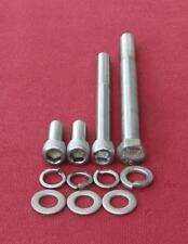 FORD 429 - 460 big block, alternator bracket stainless steel cap/hex head bolts
