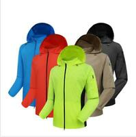 Mens Cycling Jacket High Visibility Waterproof Running Top Rain Lightweight Coat