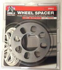 """Gorilla 4 lug Wheel Spacer 1/4"""" inch thick fits most 4 lug car wheels"""