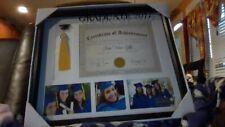 NEW 2017 Graduation Frame Holds Tassel, Diploma, 3 Photos