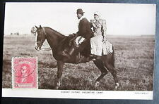 ARGENTINA SUNDAY OUTING CAMP RPPC Man woman on horse
