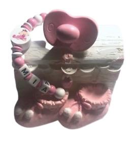 Spardose mit Namen Schatzkiste Baby Mädchen rosa Geburt Taufe personalisiert