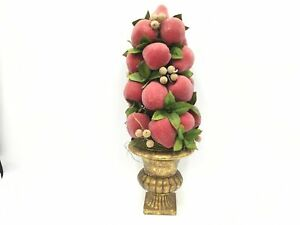 Beautiful Vintage Faux Sugared Fruit Beaded Pears Apple