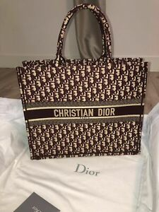 100 % AUTHENTIC Christian Dior Canvas Monogramed Book Tote