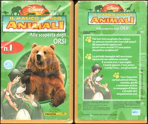 VHS - IL MAGICO MONDO DEGLI ANIMALI, ALLA SCOPERTA DEGLI ORSI - DISNEY - 1998