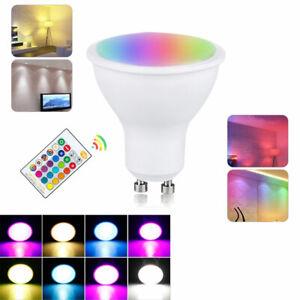 10W GU10 LED-Leuchte BULB Lamp Spotlight RGBW / WW 16 Farbwechsel +Fernbedienung