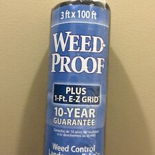Landscape Fabric Weed Control 3' x 100 with Grid Lines Gardening Planting 1 Roll