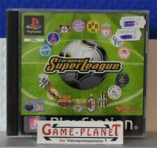 European Super League Playstation 1 Fussball OVP USK ab 0 Virgin 1-2 Player