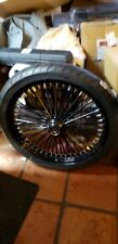 "21"" NARROW GLIDE BLK/BLK Front Wheel W tire mounted HARLEY XL 00/07 FXD 00-03"