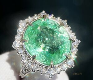 Paraiba Tourmaline Ring Gold 14K Diamond 15.94CTW GIA Certified RETAIL $24,600