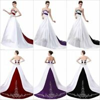 New Ball Gown Wedding Dress Formal Embroidery Bride Dress Bridal Gown Plus Size+