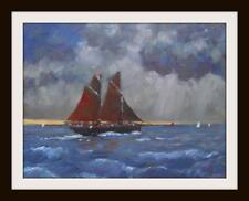 Sailing Atmospheric Sky :  Original Impressionist Oil Painting by David Baxter