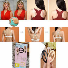 Women Oval The Ultimate Bra Strap Solution Perfect Strap Concealer Clip 3PCS New