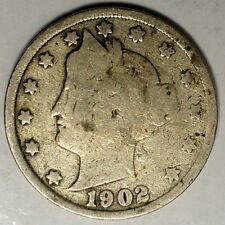 1902-P 5C Liberty Head Nickel 18ltl1028 50 Cents Shipping