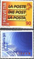 Schweiz 1637-1638 (kompl.Ausg.) gestempelt 1998 Post und Swisscom