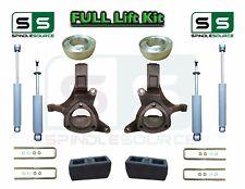 "1999 - 2007 Chevrolet Silverado Sierra 1500 2WD Spindle Lift Kit 6"" / 4"" SHOCKS"