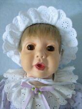 "Real Baby Doll 20"" Brown Eyes by Hasbro J. Turner 1985"