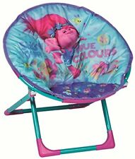 Trolls Childrens Folding Moon Chair Kids Round Seat