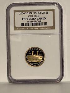 2006-S $5 Gold San Francisco Commemorative NGC PR70UC