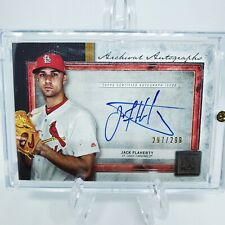 Jack Flaherty Topps Museum Autographed card - Albert Pujols Jersey Card