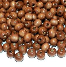 WL658L2 Brown 8mm Round Rondelle Wood Beads 4oz Package (760/pkg)