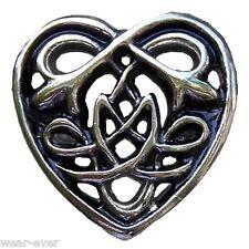 1x ZIERNIETE CELTIC HEART für Leder gewandung mittelalter ziernieten gothic AS
