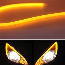 2x60cm White Amber Switchback Headlight LED Turn Signal DRL Lamp Tube for Toyota