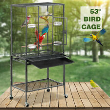 """New listing 53"""" Large Bird Parrot Pet Cage Chinchilla Cockatiel Conure House with Stand"""