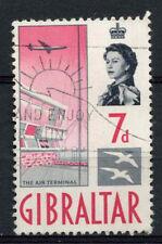Gibilterra 1960-2 SG # 167, 7D BOCCHETTONE USATO #A 75264