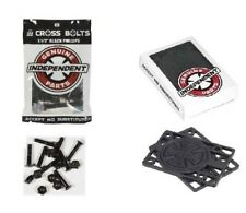 """SKATEBOARD TRUCK  INDEPENDENT PHILLIPS 1.5""""  BOLTS Hardware and 1/4"""" Riser Pad"""