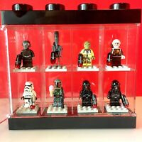LEGO Star Wars Minifigures / Bounty Hunters - LOT of 8 with Lego Display Case