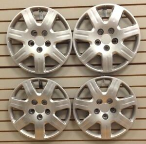 """NEW 2006-2011 Honda CIVIC 16"""" Hubcap Wheelcover SET of 4 Bolt-On Silver"""