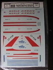 1/144 MICRO SCALE DECAL N°22 BOEING 727 WORLD AIRWAYS / WARDAIR