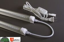 2x 4ft 20watt clear LED Tube Shop Light 40w Total + 1 Link and 6ft Power cable