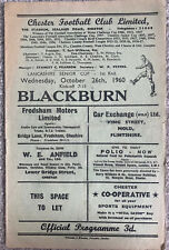 More details for chester v blackburn rovers 1960/61 lancs cup