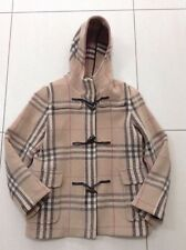 Ladies Burberry Wool Coat, Checked Pattern Vintage, Size 10/12 Classic