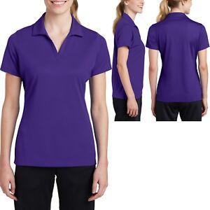Ladies MICRO MESH Polo Shirt Moisture Wicking Dri Fit Tagless XS-XL 2XL 3XL 4XL